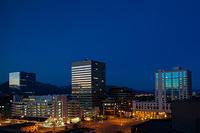 Reflected City Sunrise